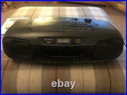 Panasonic RX-DT401 Retro Portable Boombox XBS With Twin Tape, Radio + CD Player