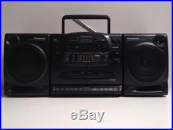 Panasonic RX-DT600 Boom Box Dual Cassette CD Player AM/FM Radio Portable Stereo