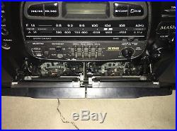 Panasonic RX-DT600 BoomBox Dual Cassette CD Player AM/FM Radio Portable Stereo