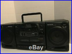 Panasonic RX-DT640 Boombox Portable Stereo Cassette CD Player