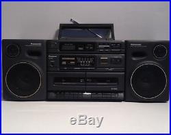 Panasonic RX-DT650 Boom Box Dual Cassette CD Player AM/FM Radio Portable Stereo
