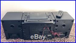 Panasonic RX-DT650 Boom Box Dual Cassette Player, CD, AM/FM Portable Stereo