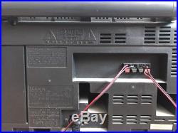 Panasonic RX-DT650 Boom Box Dual Cassette Player CD AM/FM Portable Stereo