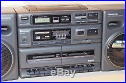Panasonic RX-DT650 Boom Box Dual Cassette Player, CD, AM/FM Portable Stereo NICE