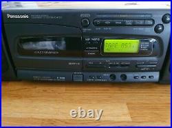 Panasonic RX-E300 Portable Boombox Stereo CD Cassette Player radio