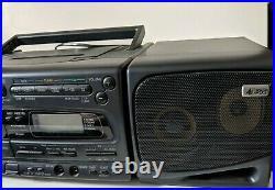 Panasonic RX-E300 Portable Boombox Stereo CD Cassette Player radio + Remote