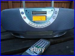 Panasonic RX-EX1 Portable Cassette Radio CD Player Sounds Amazing & Inc remote