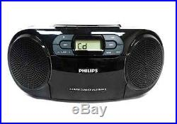 Philips AZ-329 Portable Audio CD USB SD Player Cassette FM MWTuner MP3-CD 220V