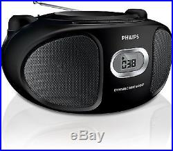 Philips AZ105B/05 Portable CD Player with FM Tuner and Audio-In for Smartphon