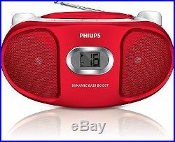 Philips AZ105R/05 Portable CD Player with FM Tuner and Audio-In for Smartphon