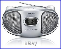 Philips AZ105S/05 Portable CD Player with FM Tuner and Audio-In for Smartphon