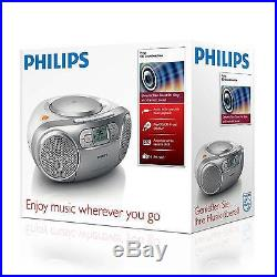 Philips AZ127/05 Portable Boombox Tape Deck, CD Player, CD/CD-RW, FM Radio SA