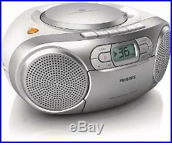 Philips AZ127/12 Portable Stereo CD CASETTE BOOMBOX Player CD-R CD-RW