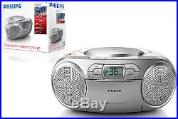 Philips AZ127 Portable Boombox CD-R/CD-RWithDeck Cassete Tape Player FM radio