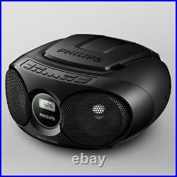 Philips AZ215B/79 CD Soundmachine Boombox CD/CD-R/CD-RW Player FM Radio Black