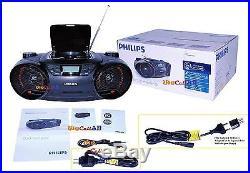 Philips AZ3811 SoundMachine Portable Boombox MP3 CD Player AM FM Radio