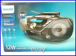 Philips AZB798T/12 CD SoundMachine BoomBox Portable DAB+ BT CD Cassette