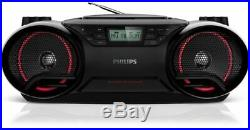 Philips Az3831/12 Portable Stereo CD Player Mp3 Playback Boombox 5w