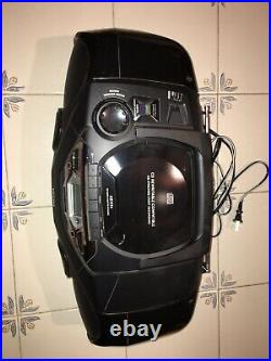 Philips CD Cassette Tape Player Recorder Digital Radio Tuner Portable Boombox