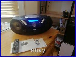 Philips CD SoundMachine BoomBox 12W Portable Speaker DAB+ BT Cassette AZB798T/12