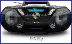 Philips CD Soundmachine Portable Speaker+ Bluetooth Cassette & CD Player 12W