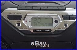 Philips Portable BOOMBOX DIGITAL DBB CD TAPE CASSETTE PLAYER RADIO ghettoblaster