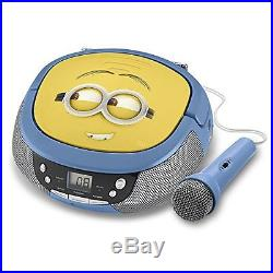 Portable Audio Video Minions MS-430. EX CD Player Boombox with Mic NEW LOT TOOL
