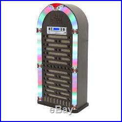 Portable BLUETOOTH JUKEBOX With CD Player Built-In FM Radio Audio Electrical New