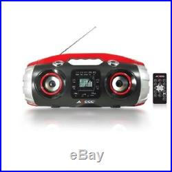 Portable Bluetooth Boombox FM Radio CD Player MP3 USB AUX SD Stereo Bass Remote