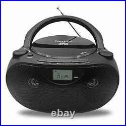 Portable Bluetooth CD Player Boombox with AM/FM Radio Stereo Sound System
