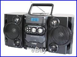 Portable Boombox MP3 CD USB Cassette Player AM FM Radio Stereo Speaker Bass HIFI