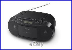 Portable CD Cassette Player AM/FM Radio Sony LCD Music Audio Sound Playback Home