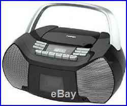 Portable CD Cassette Player Boombox Digital AM FM Radio High Quality Durable NEW