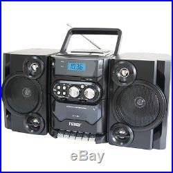 Portable CD MP3 Player with AM FM Radio, Detachable Speakers, Remote Naxa