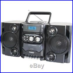 Portable CD MP3 Player with AM/FM Radio Detachable Speakers Stereo System New
