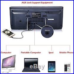 Portable CD Player Boombox FM Radio Alarm Clock USB SD Aux Line In MP3 Player