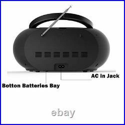 Portable CD Player Boombox with Bluetooth & FM Radio, USB MP3