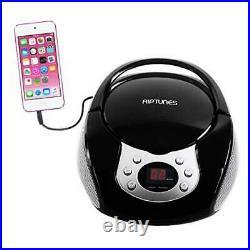 Portable CD Player with AM FM Radio Potable radios Boom Box with Black/Silver