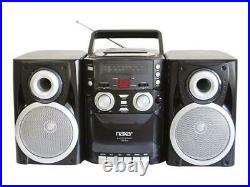 Portable CD Player with AM/FM Stereo Boombox Radio Cassette Player/Recorder