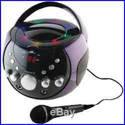 Portable Karaoke Boombox/CD player / Plays CD+G, CD, CD-R/RW discs with LED light