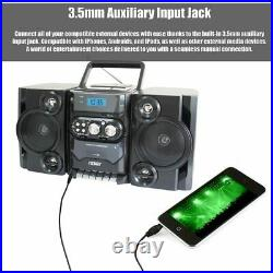Portable MP3/CD/USB Player with Stereo Radio & Cassette Recorder