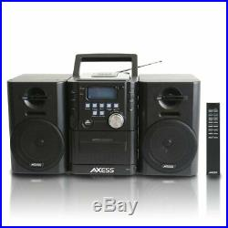 Portable Mini Entertainment System AM/FM USB CD MP3 Player Cassette Recorder 12W