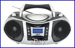 Portable Mp3/Cd Player With Am/Fm Stereo Radio Usb/Sd/Mmc Inputs Home Dorm Naxa /