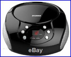 Portable Radio Cd Boombox With Am Fm Digit Del Display Player With Aux Input New