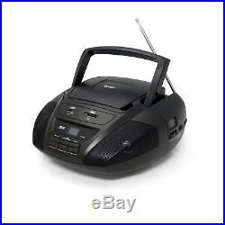 Portable Stereo Audio MP3 CD Player w USB AUX SD MMC Inputs AM FM Radio Boombox