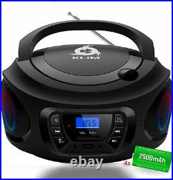 Portable Wireless MP3 Audio CD Boombox Stereo Player Bluetooth USB AUX FM