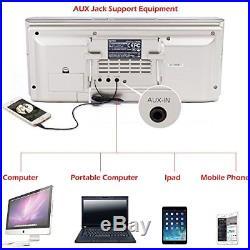 Portable cd PlayerBoombox DPNAO with Headphones Jack FM Radio Clock USB SD and