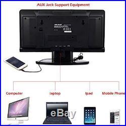 Protable CD Player VELOUR Slim Boombox with USB SD FM Radio Clock Mp3 Portable