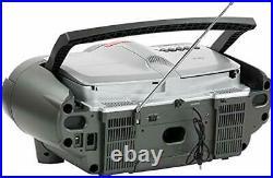 QFX J-50U Portable Jumbo Bluetooth Boombox Radio with MP3/CD Player and Casse