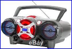 QFX J-50U Portable Jumbo Bluetooth Boombox Radio with MP3/CD Player and Cassette